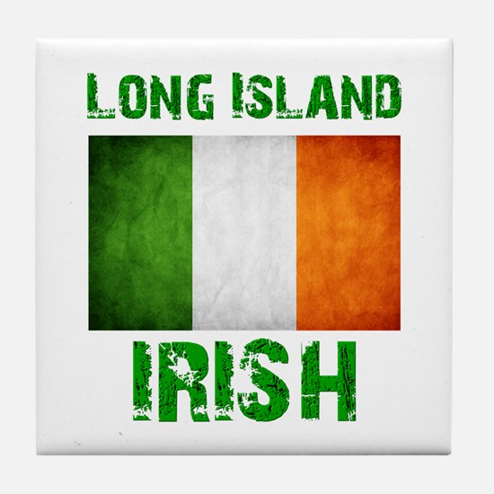 Long Island IRISH Tile Coaster