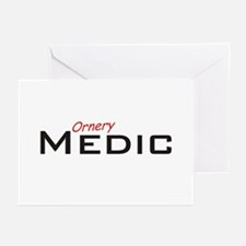 Ornery Medic Greeting Cards (Pk of 20)