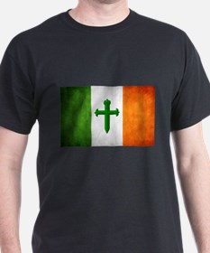 Irish Flag & Emerald Cross T-Shirt
