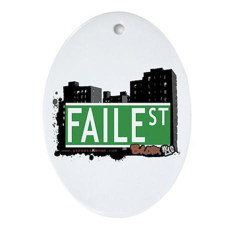 Faile St, Bronx, NYC Ornament (Oval)