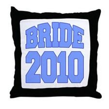 Bride 2010 Blue Throw Pillow