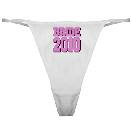Bride 2010 Pink Shadowed Classic Thong