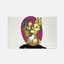 Bunny Daddy and Baby Duck Rectangle Magnet