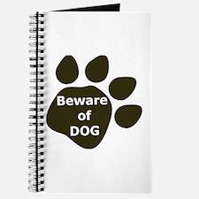 Beware of Dog paw Journal