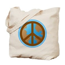 Peace Sign Earth Day Tote Bag