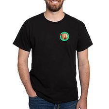 Butt Necked Official Logo T-Shirt (black)