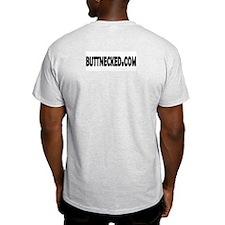 Butt Necked Official Logo Ash Grey T-Shirt
