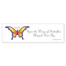 Butterfly Magick Bumper Car Sticker