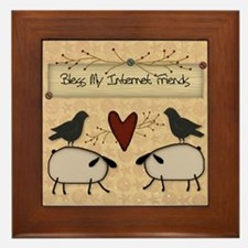 Internet Friends Framed Tile