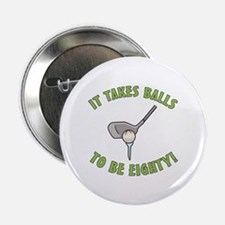 "80th Birthday Golfing Gag 2.25"" Button"