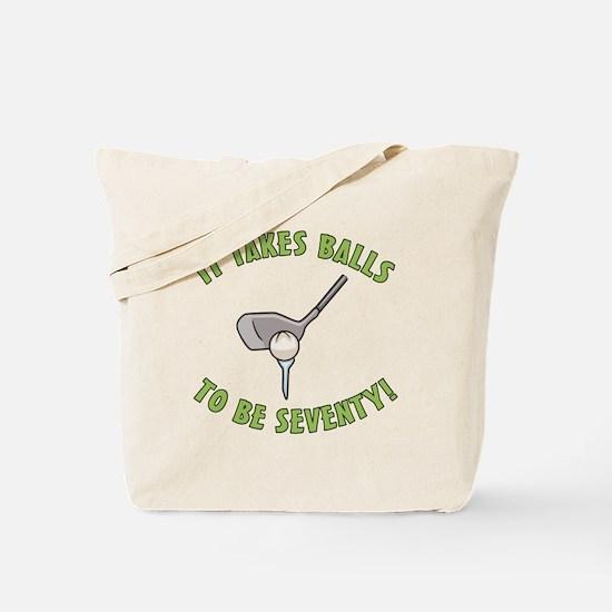 70th Birthday Golfing Gag Tote Bag