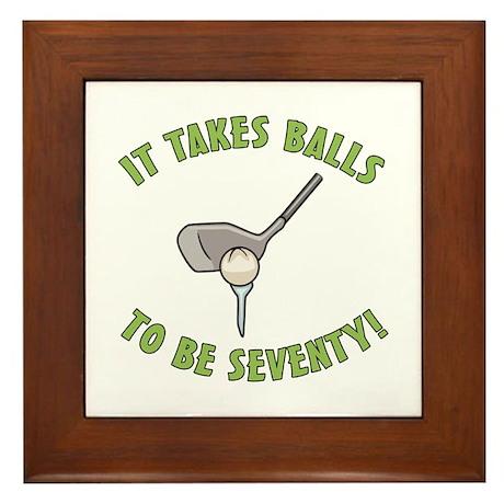 70th Birthday Golfing Gag Framed Tile