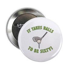 "60th Birthday Golfing Gag 2.25"" Button"