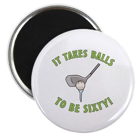"""60th Birthday Golfing Gag 2.25"""" Magnet (10 pack)"""