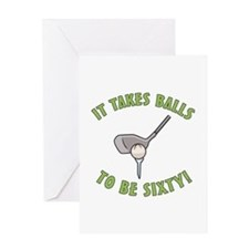 60th Birthday Golfing Gag Greeting Card