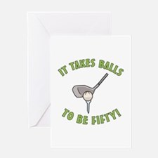 50th Birthday Golfing Gag Greeting Card
