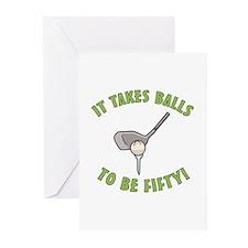 50th Birthday Golfing Gag Greeting Cards (Pk of 10