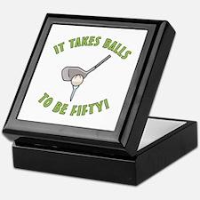 50th Birthday Golfing Gag Keepsake Box