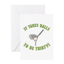 30th Birthday Golfing Gag Greeting Card