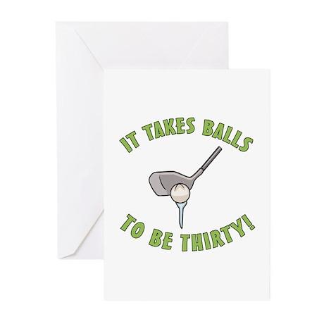 30th Birthday Golfing Gag Greeting Cards (Pk of 10