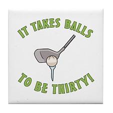 30th Birthday Golfing Gag Tile Coaster