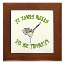 30th Birthday Golfing Gag Framed Tile