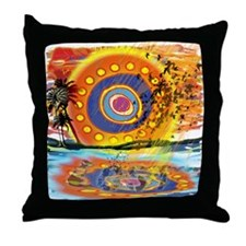 Lost Floats Throw Pillow