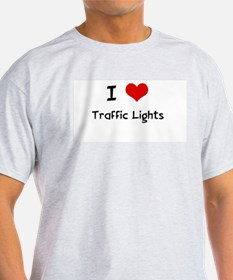 I LOVE TRAFFIC LIGHTS Ash Grey T-Shirt
