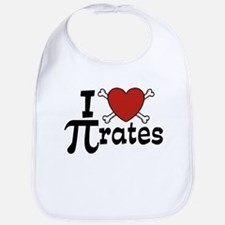I Love Pi rates Bib