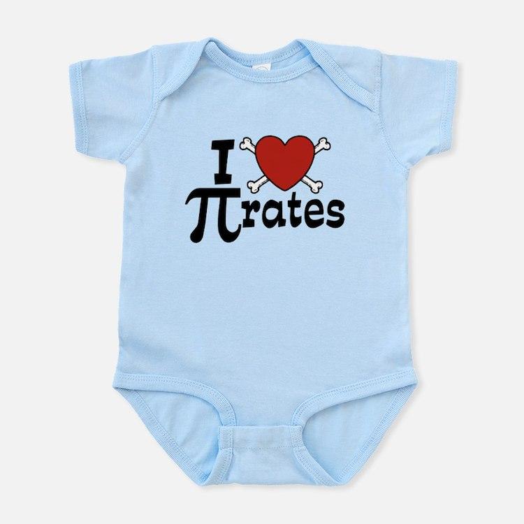 I Love Pi rates Infant Bodysuit