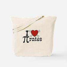 I Love Pi rates Tote Bag