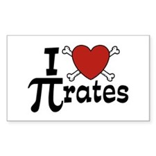 I Love Pi rates Decal