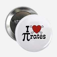 "I Love Pi rates 2.25"" Button"