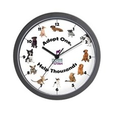Funny Animal adoption Wall Clock