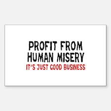 Just Good Business Sticker (Rectangle)
