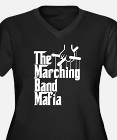 Marching Band Mafia Women's Plus Size V-Neck Dark