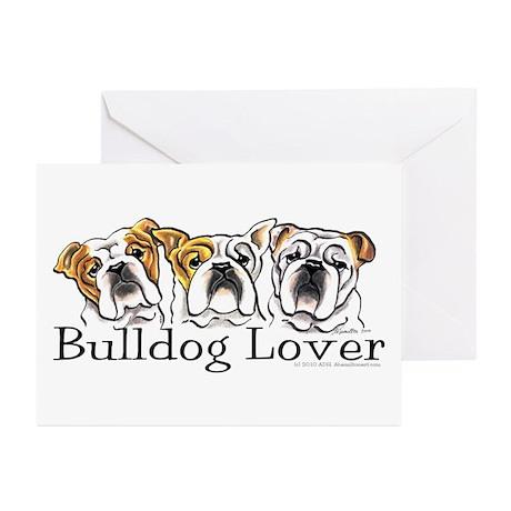 English Bulldog Lover Greeting Cards (Pk of 10)