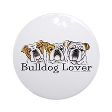 English Bulldog Lover Ornament (Round)
