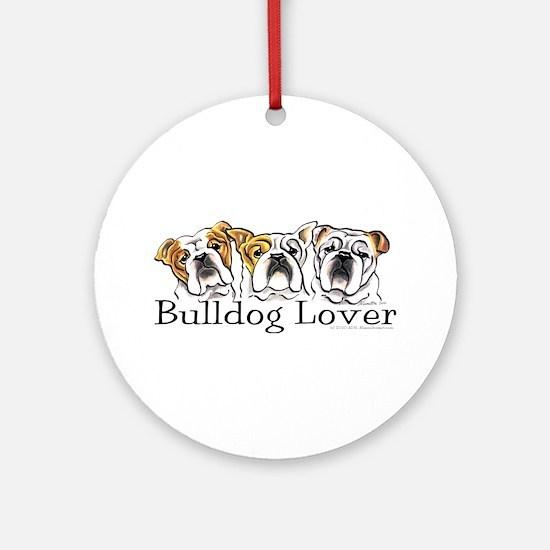 English Bulldog Lover Ornament (Round)