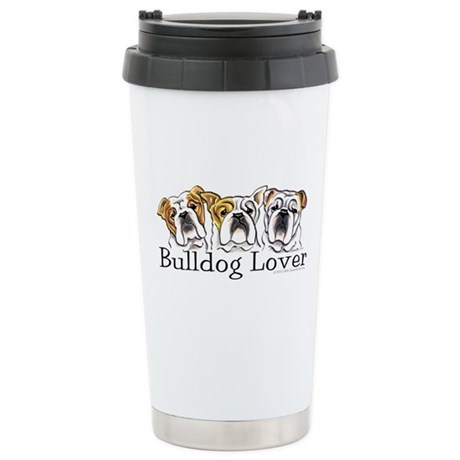 English Bulldog Lover Stainless Steel Travel Mug