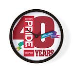 40th Anniversary Wall Clock