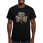 Shamrock Skulls Men's Fitted T-Shirt (dark)