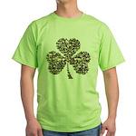 Shamrock Skulls Green T-Shirt