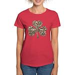 Shamrock Skulls Women's Dark T-Shirt