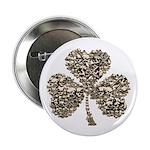 "Shamrock Skulls 2.25"" Button (100 pack)"