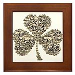 Shamrock Skulls Framed Tile