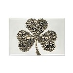 Shamrock Skulls Rectangle Magnet (10 pack)