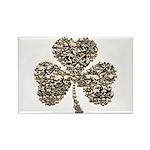 Shamrock Skulls Rectangle Magnet (100 pack)