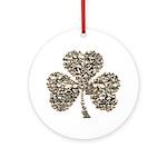 Shamrock Skulls Ornament (Round)