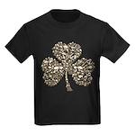 Shamrock Skulls Kids Dark T-Shirt